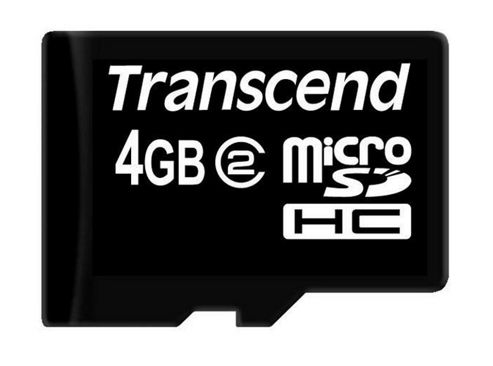 Transcend 4GB MicroSDHC Class 2 No Adapter