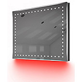 Ambient Ultra-Slim LED Bathroom Mirror With Demister Pad & Sensor K67R