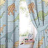 Retro Dinosaur, Hiccups Curtains 72s - Multi