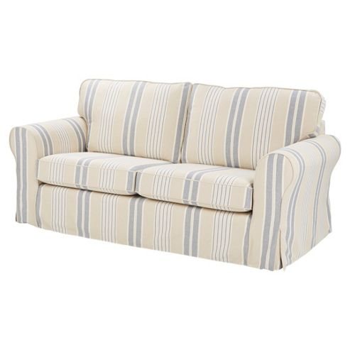 buy kenton large sofa cream blue from our fabric sofas range tesco. Black Bedroom Furniture Sets. Home Design Ideas