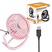 "Twitfish Plastic USB Desk Fan 4"" - Pink"