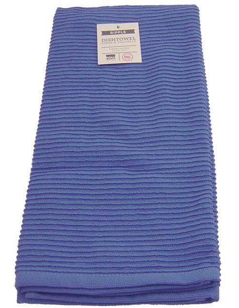 Buy Now Designs Single Ripple Kitchen Tea Towel Royal Blue From Our Tea Towels Range Tesco