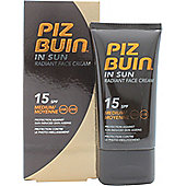 Piz Buin In Sun Radiant Face Cream 40ml SPF15 Medium