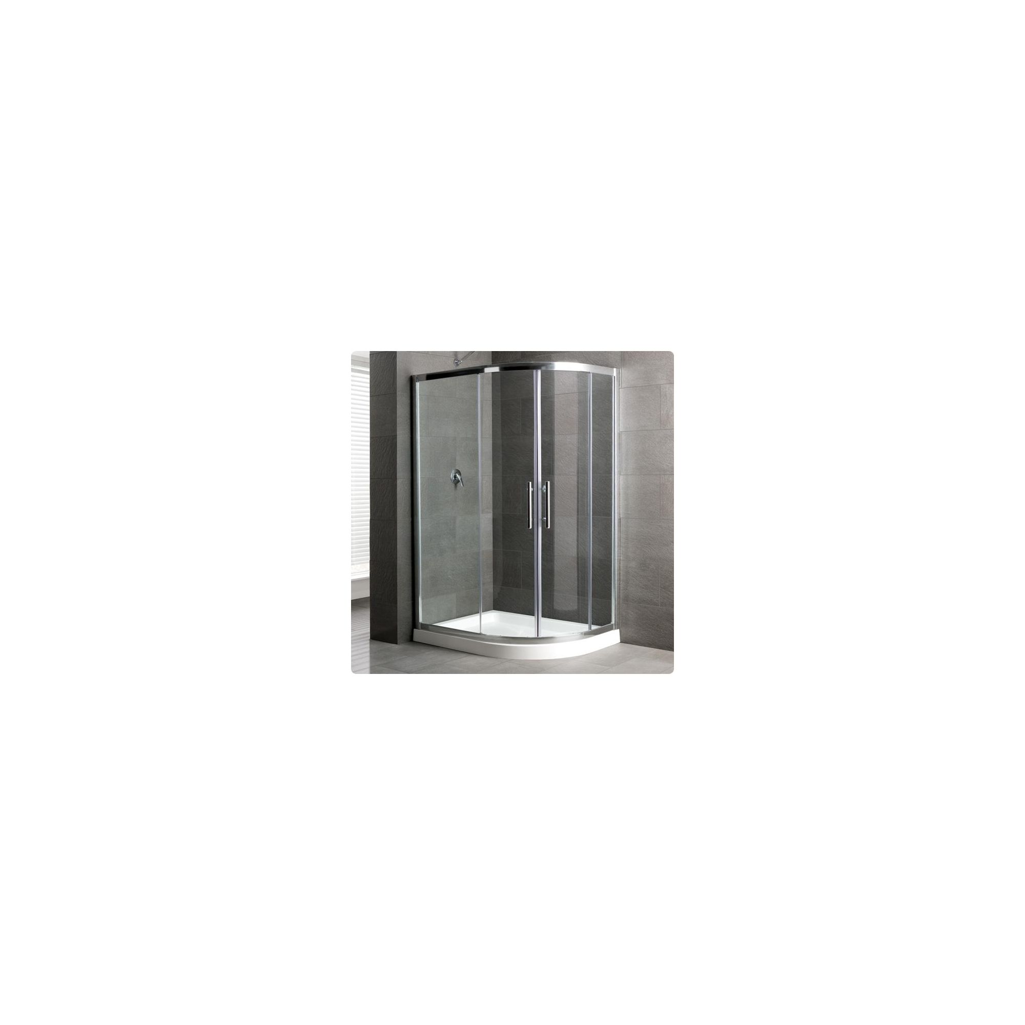 Duchy Select Silver 2 Door Offset Quadrant Shower Enclosure 1000mm x 900mm, Standard Tray, 6mm Glass at Tesco Direct