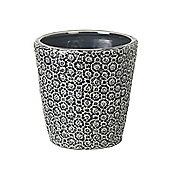 Parlane Pretty Dark Grey Ceramic 'Maya' Flower/Plant Pot - 15 x 15cm