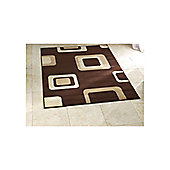 Think Rugs Diamond Brown Budget Rug - 160 cm x 220 cm (5 ft 3 in x 7 ft 3 in)
