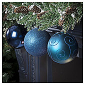 Christmas Baubles, Blue, 3 pack