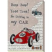 Nursery Rhymes Canvas - I'm Driving In My Car
