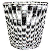 Nautical rattan waste bin- Grey