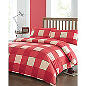 Newquay Single Quilt Cover Set - Red