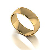 9ct Gold 6mm Court Wedding Band