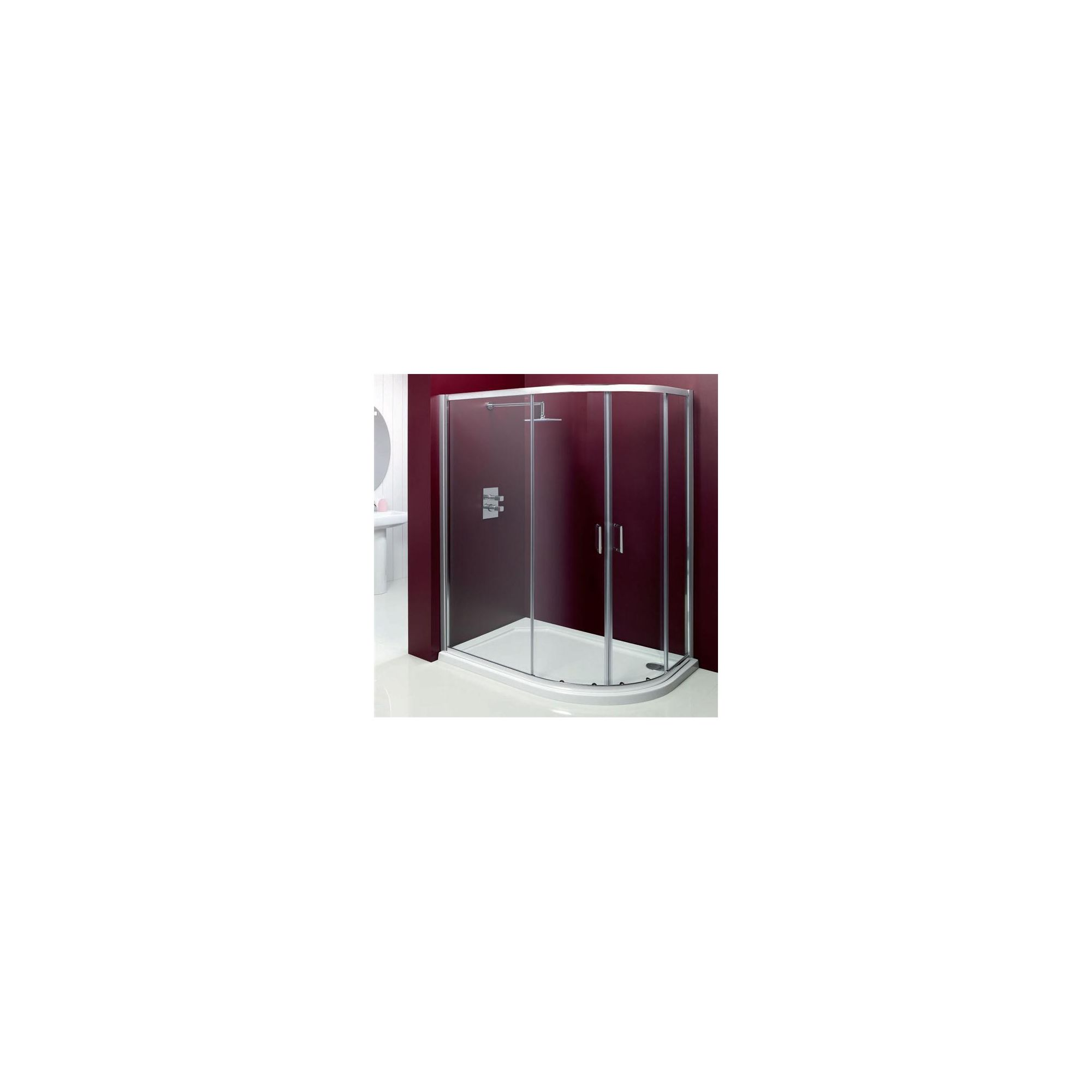 Merlyn Vivid Entree Offset Quadrant Shower Enclosure, 1000mm x 800mm, Right Handed, Low Profile Tray, 6mm Glass at Tesco Direct