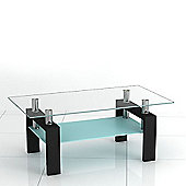 Corno Black Glass Coffee Table