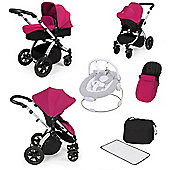 ickle bubba Stomp V2 AIO with Safety Mosquito Net Travel System - Silver