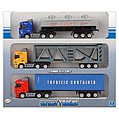 Toyrific 1:65 Die Cast City Trucks Triple Pack