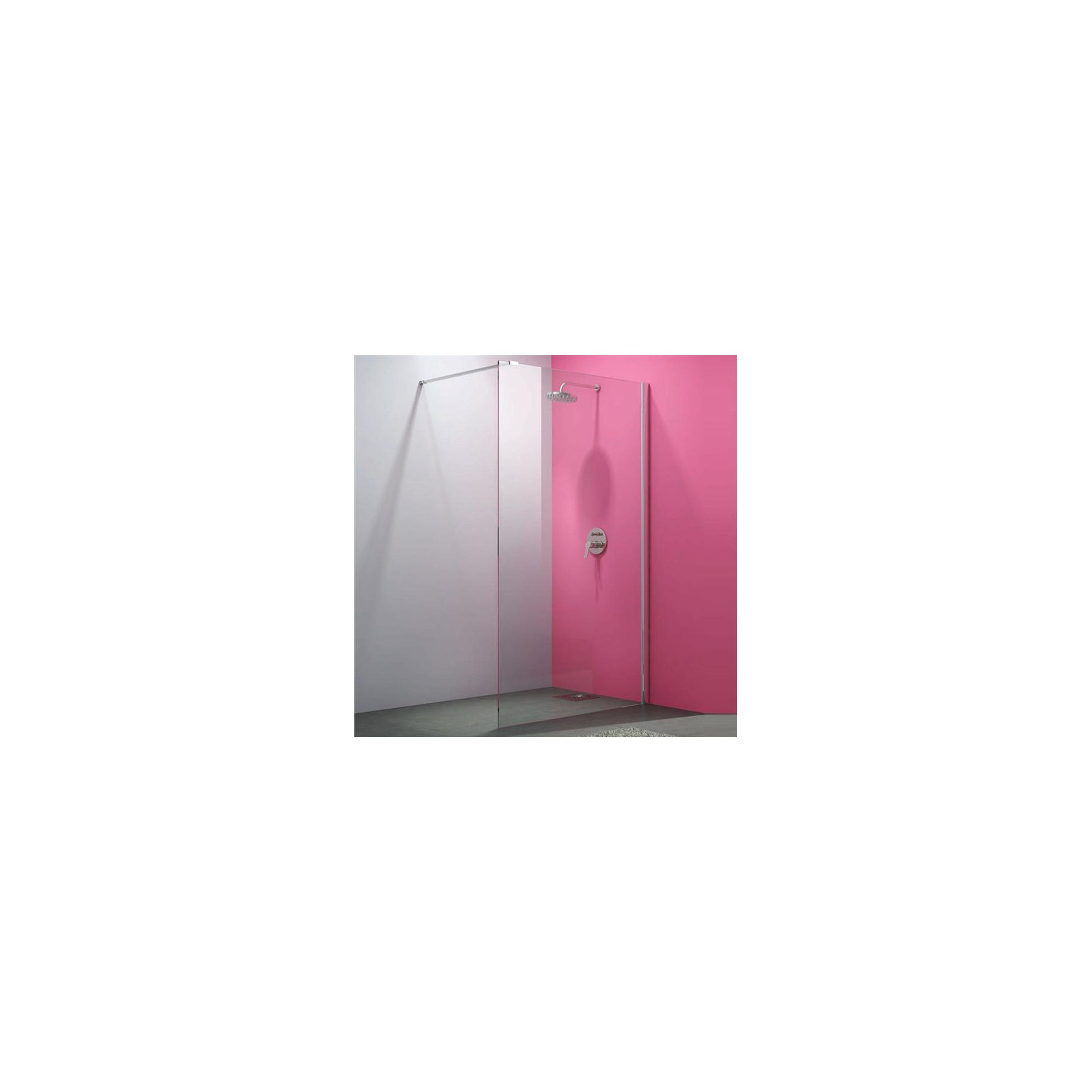 Merlyn Vivid Eight Wet Room Shower Glass Panel 1200mm Wide at Tesco Direct