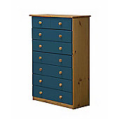 6 + 2 Chest of Drawers in Antique and Blue