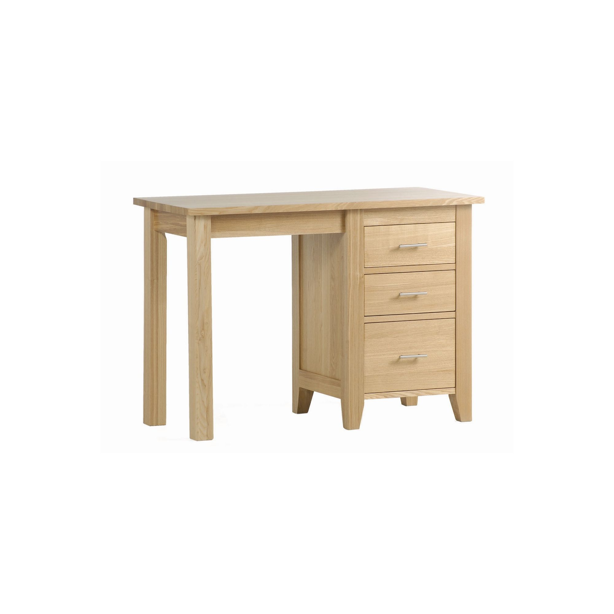 Kelburn Furniture Carlton Ash Single Pedestal Desk at Tesco Direct