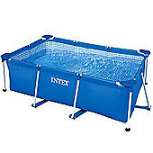 "Intex Rectangular Metal Frame Pool No Pump 102 1/2"" x 63"" x 25 5/8"" - 28271"