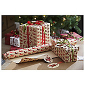 Kraft Red Reindeer Christmas Wrapping Paper, 3m