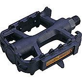 Wellgo LU207 - 9/16' Nylon ATB Pedals - Detachable Reflectors in Black