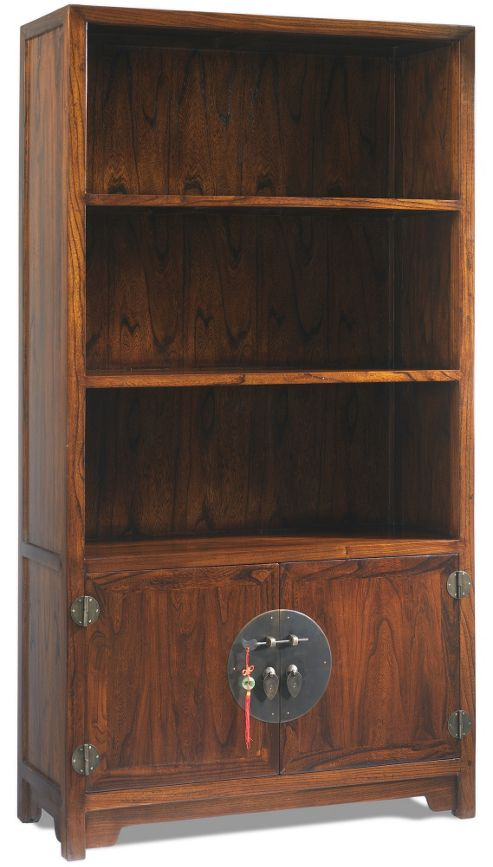 Shimu Chinese Classical Book Cabinet - Warm Elm