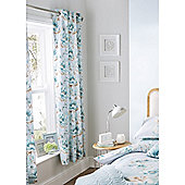 Catherine Lansfield Home designer collection Duckegg Flora Curtains