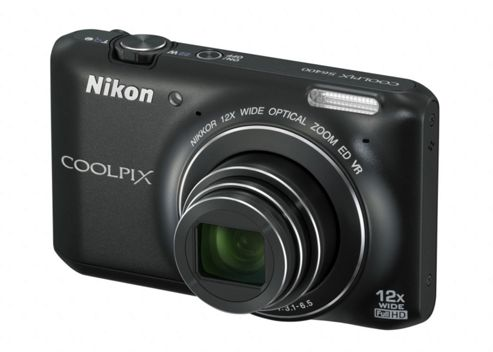 DS Nikon Coolpix S6400 3D Camera Black 16MP 12xZoom 3.0LCD FHD 25mm Wide Lens