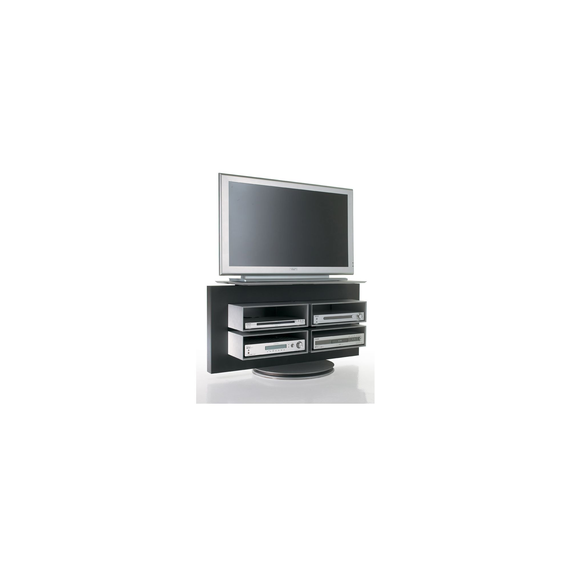 Luke Furniture TV Stand - High Gloss Black at Tesco Direct