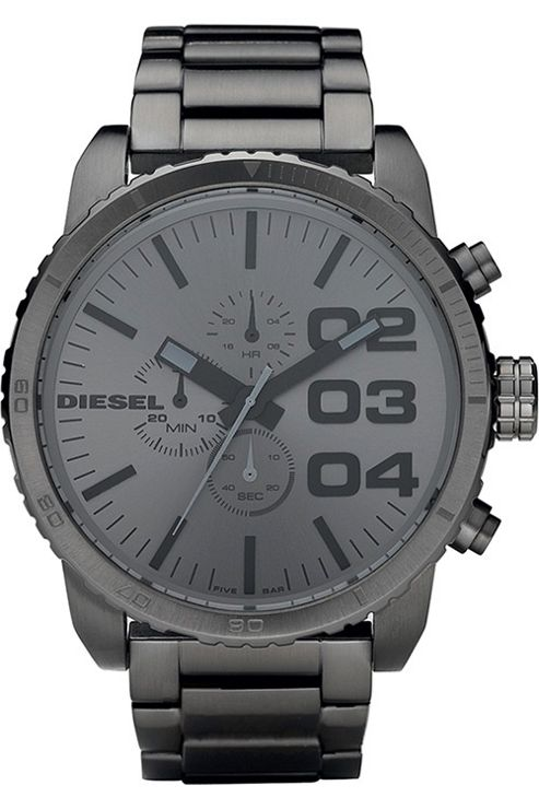 Diesel Gents Black Steel Watch DZ4215