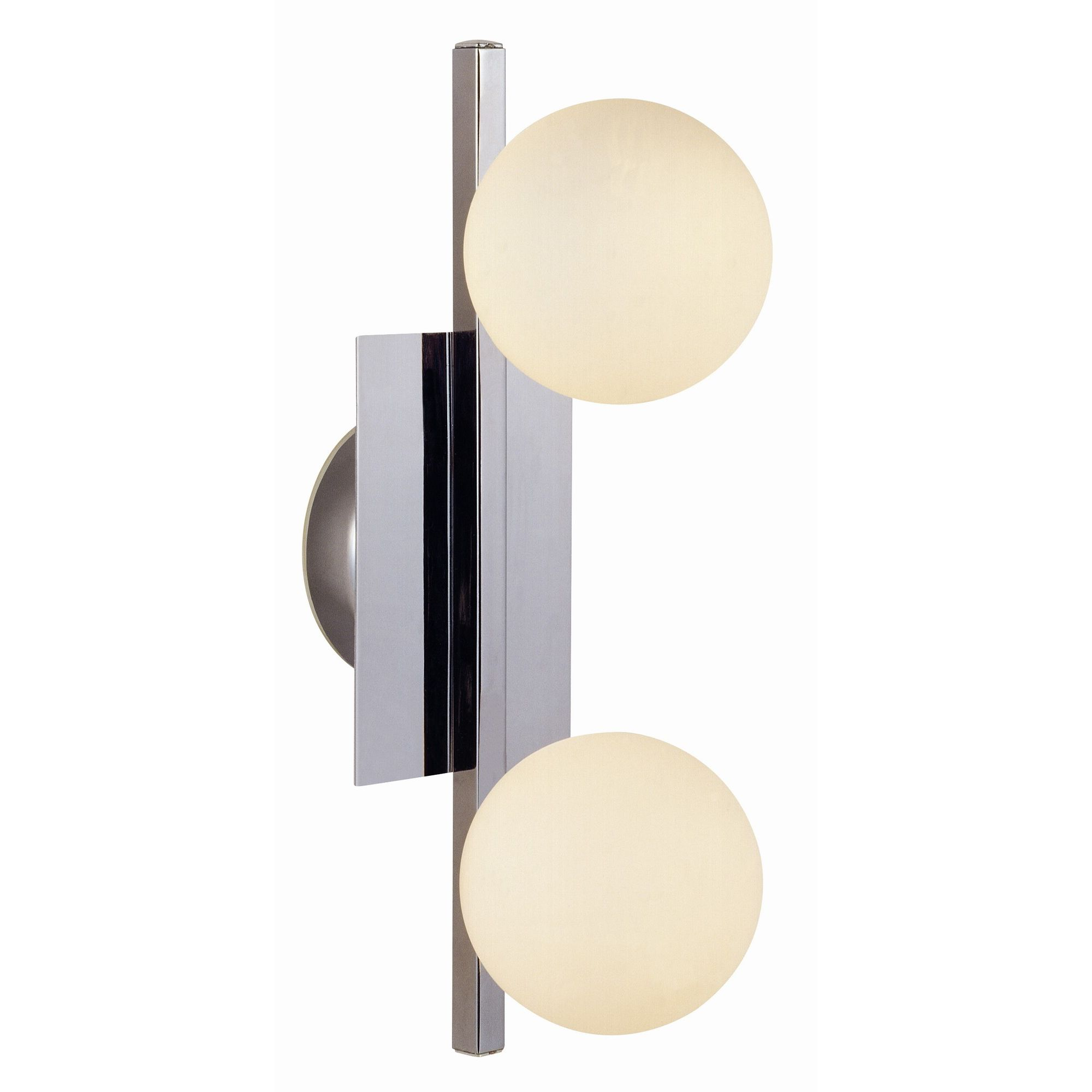Home Essence Cardiff 2 Bulb Wall Light In Chrome