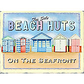 Beach Huts For Sale Tin Sign
