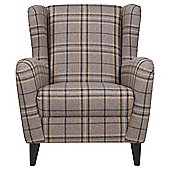Sophia Wingback Occasional Chair, Slate Check