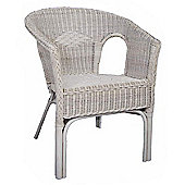 Wicker Valley Rattan Chair in White