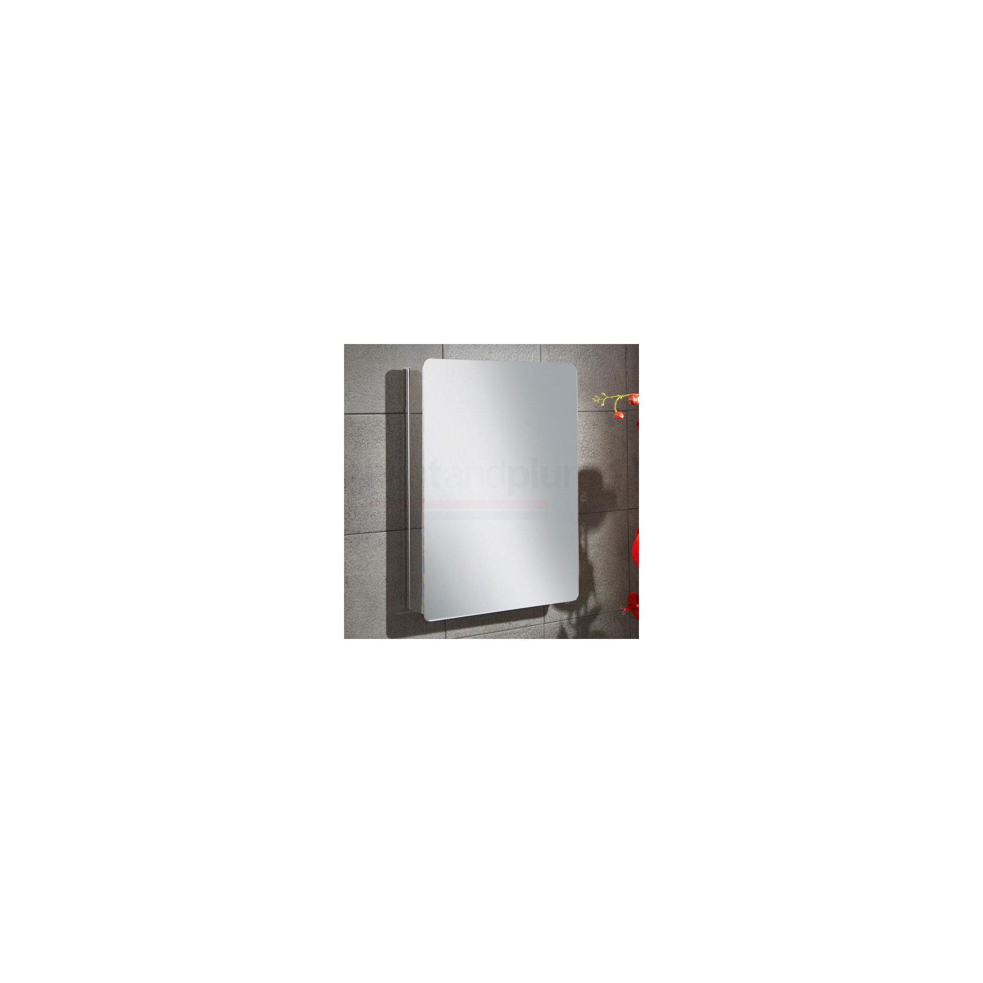HiB Melia Stainless Steel Bathroom Cabinet 650mm High x 450mm Wide x 105mm Deep