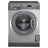 Hotpoint Aquarius Washing Machine, WMAQF721G, 7KG Load, Graphite