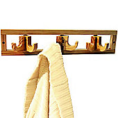 Clik Clak - Wall Mounted Solid Pine Coat / Towel Hook