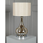 Casa Couture Aurelia Glass Table Lamp - Champagne