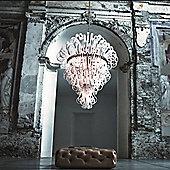 De Majo Ciocca 16 Light Pendant - Chrome - Clear Glass / Black Rim