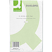 Q-Connect Envelope C5 90gsm White Self-Seal Pack of 25 KF02719