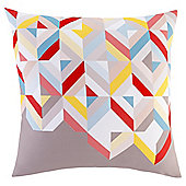 Geometric Grey Print Cushion