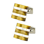 Float - Tiger Eye Cufflinks by Duncan Walton