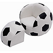 Homcom Children Kids Football Soccer Sofa Set Ball Footstool