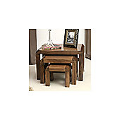 Baumhaus Shiro Nest of 3 Coffee Tables in Walnut