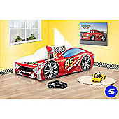 Toddler Car Bed and Mattress - Red 95 (Small)