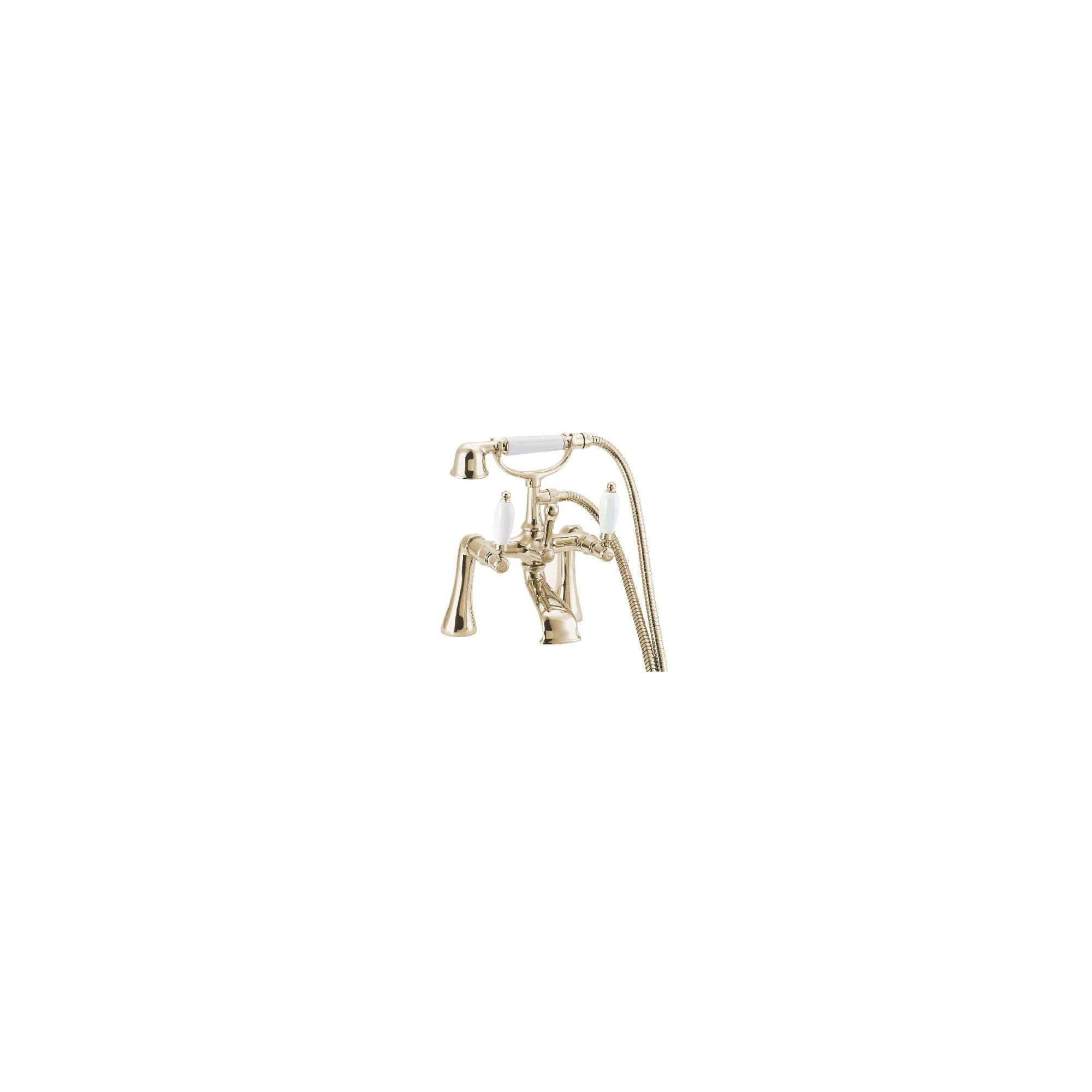 Deva Georgian Pillar Mounted Bath Shower Mixer Tap Gold at Tesco Direct