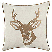 Heritage Stag Head Cushion Gold