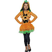 Pumpkin Tutu Dress - Child Costume 7-9 years