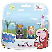 Peppa Pig Once Upon A Time Twin Figure Pack- Prince George & Prince Danny