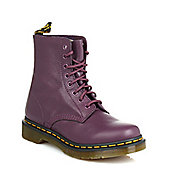 Dr Martens Womens Purple Pascal VirginiaLeather Boots - Purple